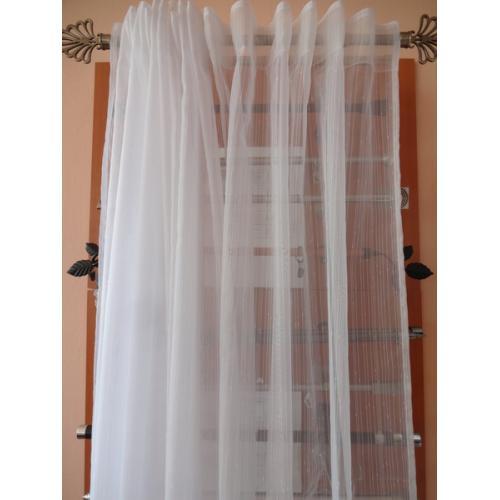 Záclona voal bílé pršíčko OTYLKA výška 180