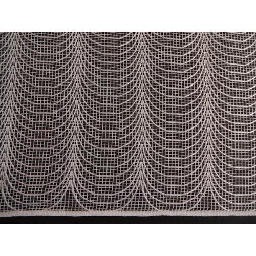 Síťovaná záclona s olůvkem  Pavoučci 260 bílá