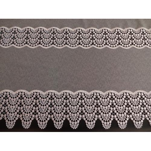 Vyšívaná záclona s bordurou sable 4452/280 bílá