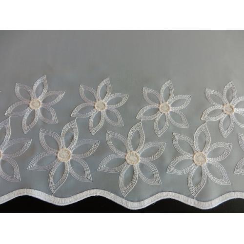 Krátká vitrážová záclona na tyčku 45cm 6797 bílá