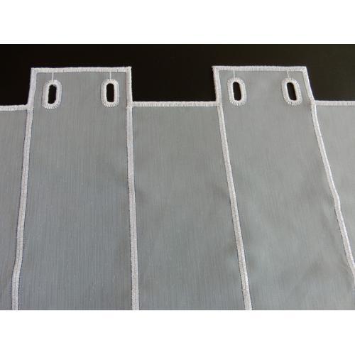 Krátká vitrážová záclona 60cm Kytička starorůžová 322