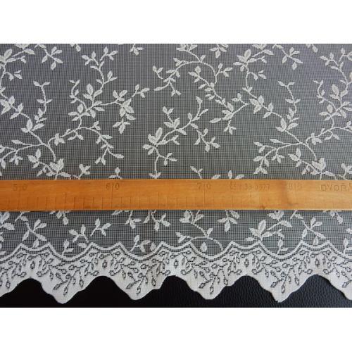 Žakárová záclona s bordurou smetanová 6782