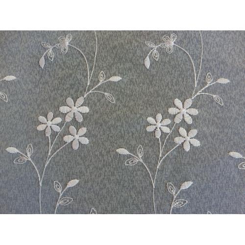 Vyšívaná záclona s bordurou 705/250 bílá