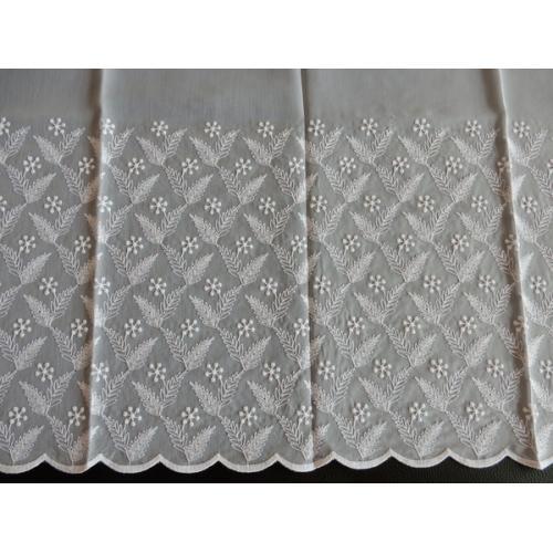 Vyšívaná záclona s bordurou H3/845 béžová