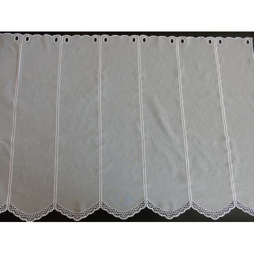 Krátká vitrážová záclona na tyčku 70cm BATIST V612 bílá