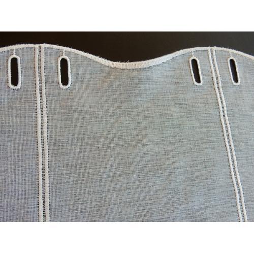 Krátká vitrážová záclona na tyčku 100cm BATIST V052 béžová