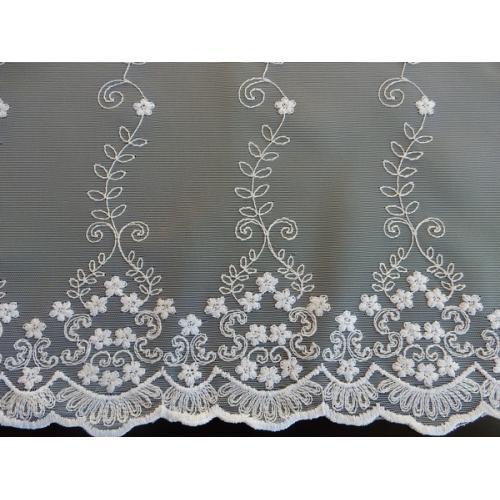 Krátká vitrážová záclona 90cm 594/601 bílá
