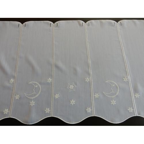 Krátká vitrážová záclona 50cm F269373 bílá