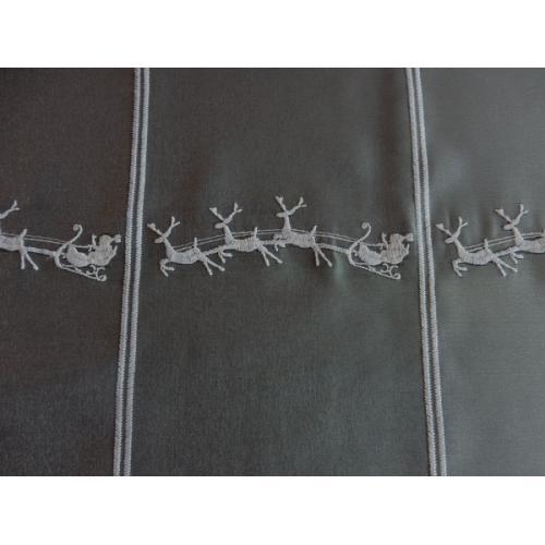 Krátká vitrážová záclona na tyčku 50cm Vánoční sobi