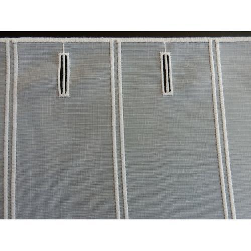 Krátká vitrážová záclona na tyčku 23cm BATIST Kytičky 11565 bílá