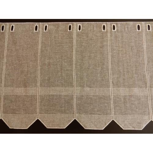 Krátká vitrážová záclona na tyčku 50cm BATIST šedá