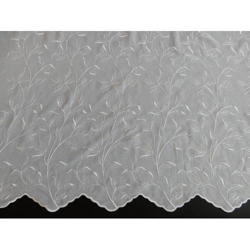 Vyšívaná záclona s bordurou Batist 408/170 bílá