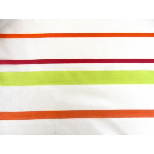 Záclona voal pruhy oranžové, zelené a fuchsiové