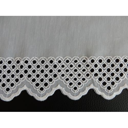 Krátká vitrážová záclona na tyčku 30cm BATIST 41372 bílá