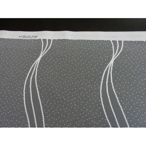 Žakárová záclona s bordurou vlny 611512/180 bílá