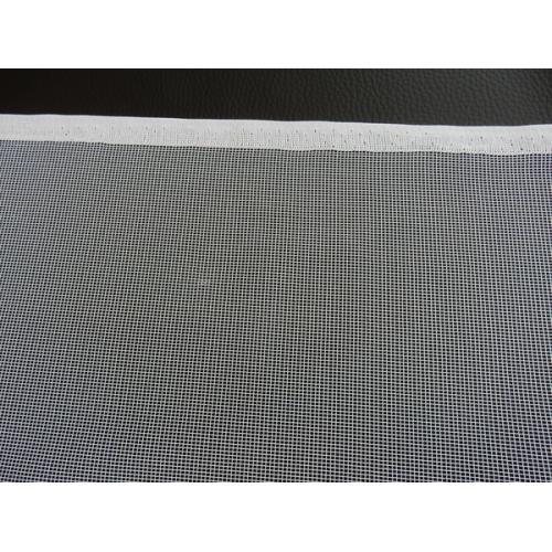 Žakárová záclona s bordurou lístky 11555/180 bílá