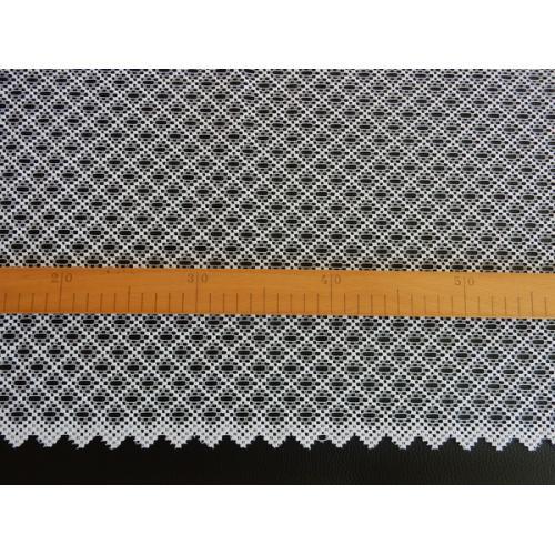 Žakárová záclona s bordurou 9272/180 bílá