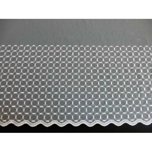 Vyšívaná záclona s bordurou 11628/290 bílá