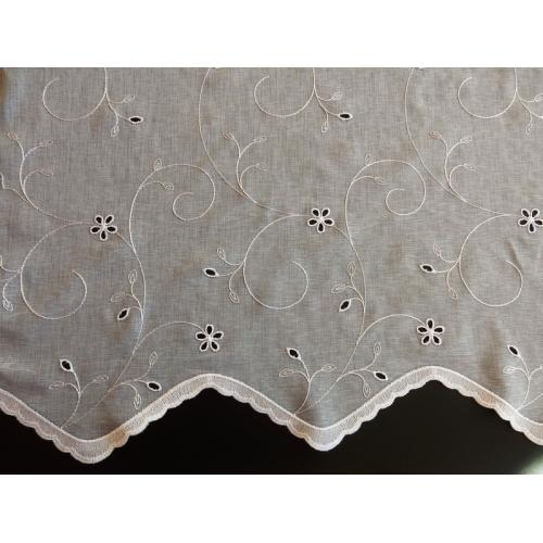 Bílá záclona BATIST Madeira 323