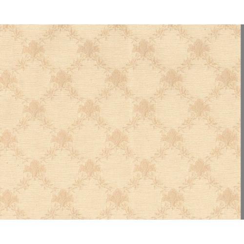 Dobová látka se zámeckým vzorem GARDENA 1970/000 bílá káva