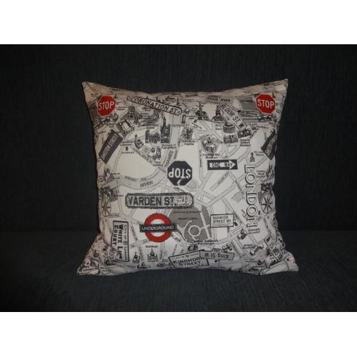 Povlak na polštář motiv KOMIKS LONDON 1 rozměr [45 x 45 cm]