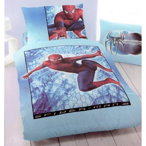 Povlečení s dětským motivem SPIDERMAN modrý