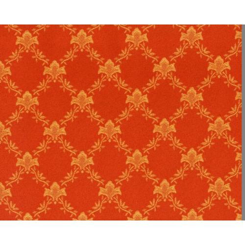Dobová látka se zámeckým vzorem GARDENA 1970/220 oranžová