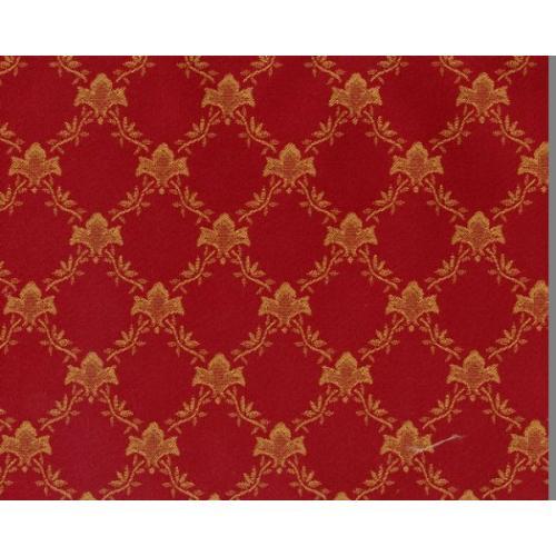 Dobová látka se zámeckým vzorem GARDENA 1970/415 vínová