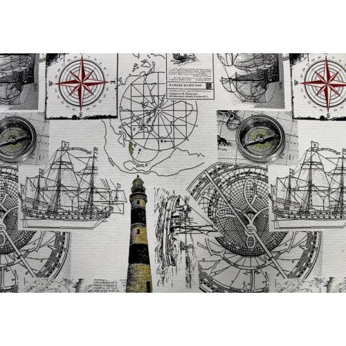 Potahová látka s moderním komiksovým vzorem KOMIKS Námořnický 5