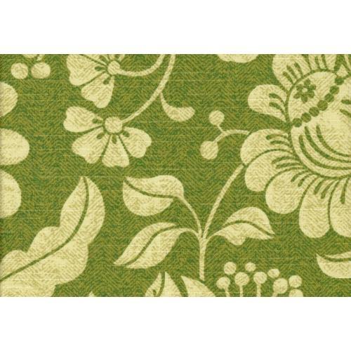 Potahová látka s květinovým vzorem ROSA MALI C/5 zelená