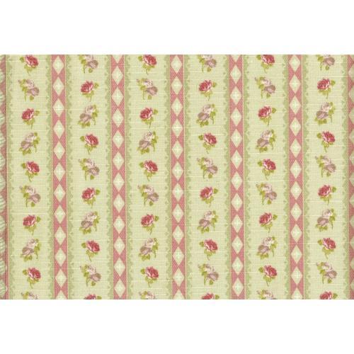 Potahová látka s květinovým vzorem ROSA ASTON C/5 zelená