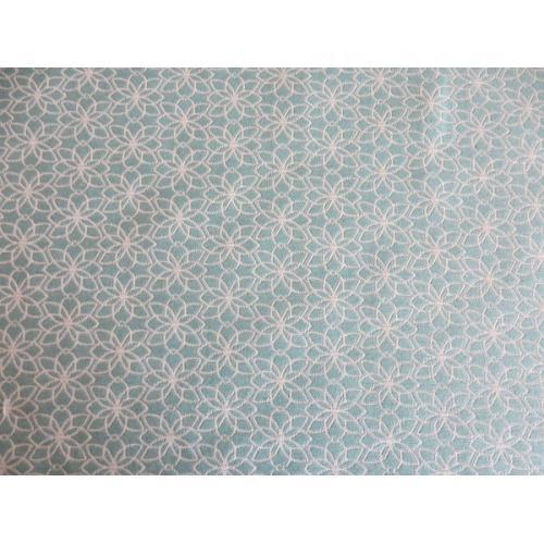 Potahová látka s retro vzorem metráž RUTA AROA 41 mintová