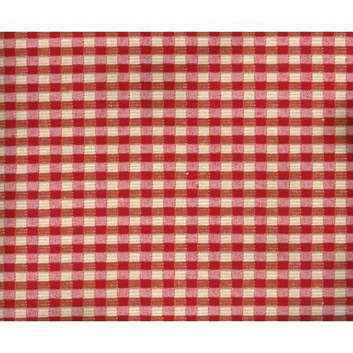 Dekorační látka kostičky ALPES GARDA C/29 červená