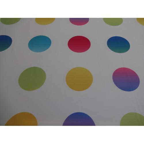 Dekorační závěsová látka s barevnými kolečky PACO