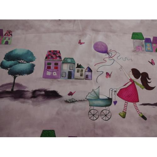 Dětská dekorační látka na závěsy BAMBINI