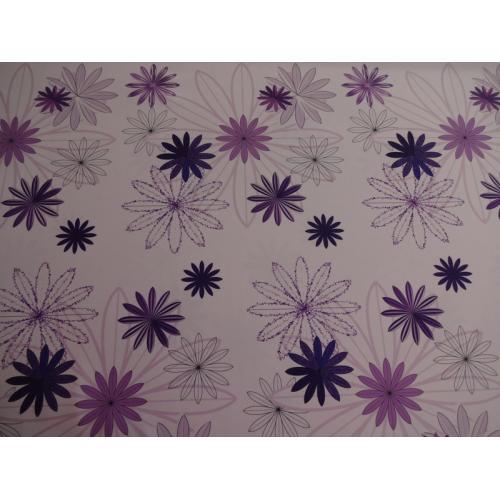 Dekorační závěsová látka fialová kytka