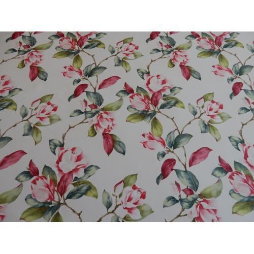 Dekorační závěsová látka s květy magnolie ESTATE MAGNOLIE