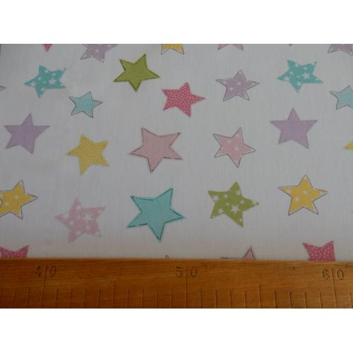 Dekorační bavlněná látka s dětským vzorem TWISTER STARS