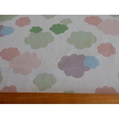 Dekorační bavlněná látka s dětským vzorem obláčky TWILL AIR BALLON