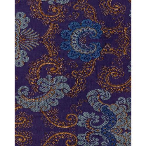 Historická potahová látka se zámeckým vzorem SEINA 2090/557 modrá