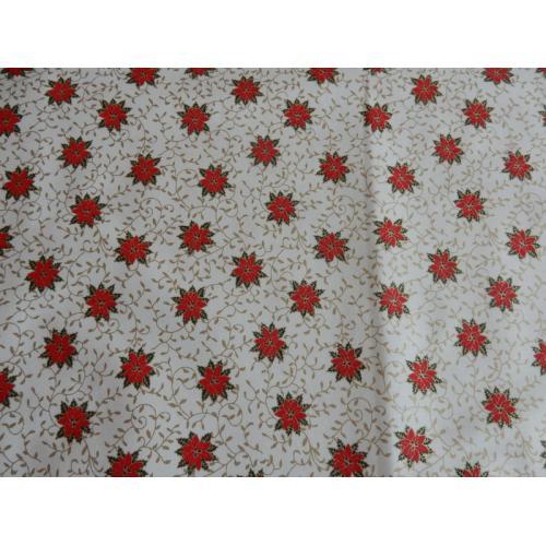 Vánoční bavlněná dekorační látka HVĚZDA I