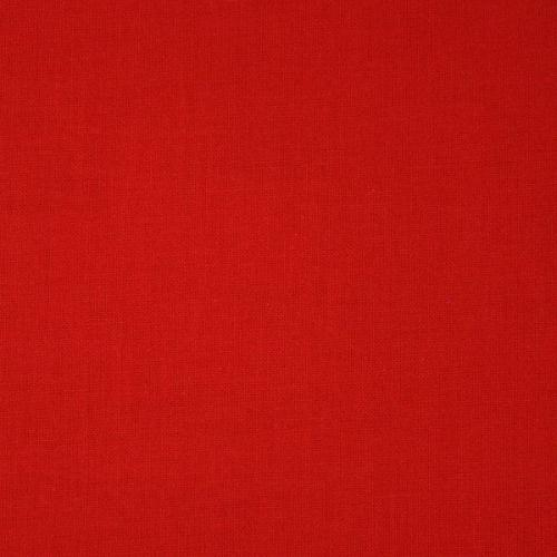 Dekorační bavlněná jednobarevná látka červená