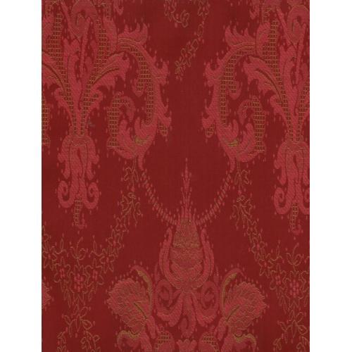 Čalounická potahová látka se zámeckým vzorem TREVA 2109/330 červeno-vínová