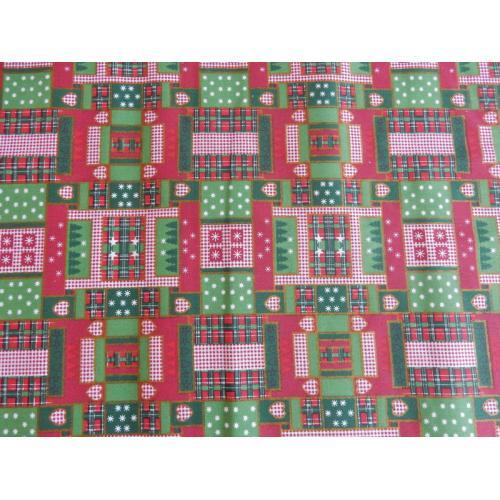 Vánoční bavlněná dekorační látka Patchwork II