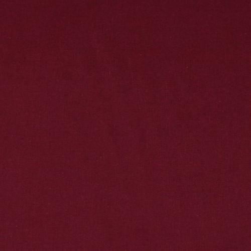 Dekorační bavlněná jednobarevná látka vínová