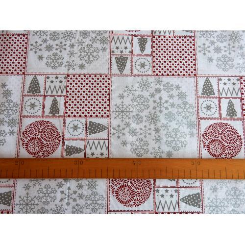 Vánoční bavlněná dekorační látka Motivy II