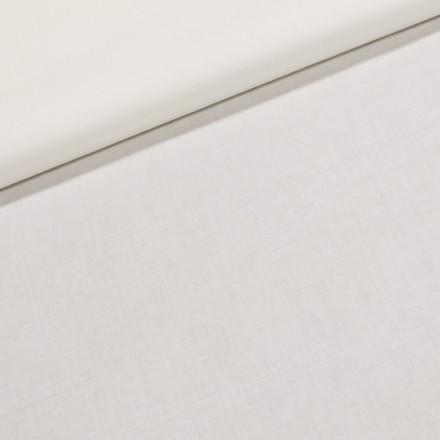 Dekorační bavlněná jednobarevná látka bílé plátno