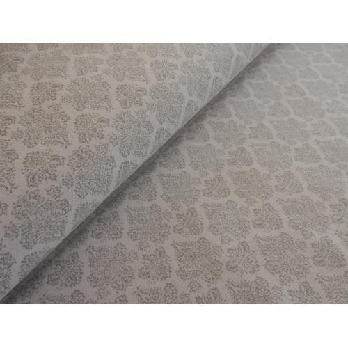 Dekorační bavlněná látka ORNAMENT šedý