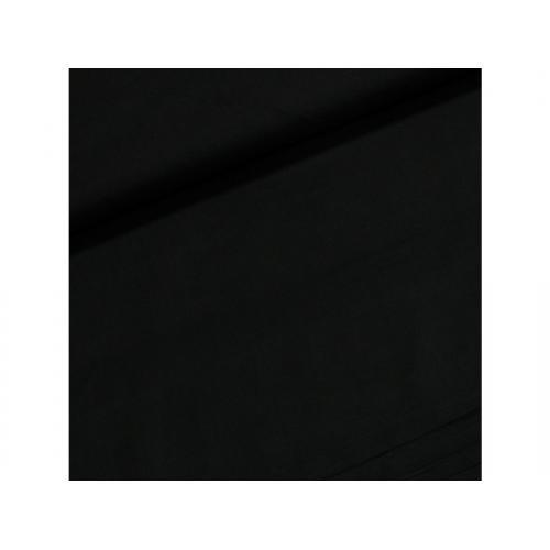 Dekorační bavlněná jednobarevná látka černá
