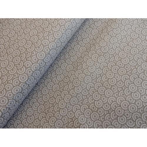 Dekorační bavlněná látka ORNAMENT šedo-hnědý II
